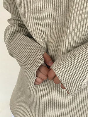 an warmer knit (ivory/beige/gray/black)