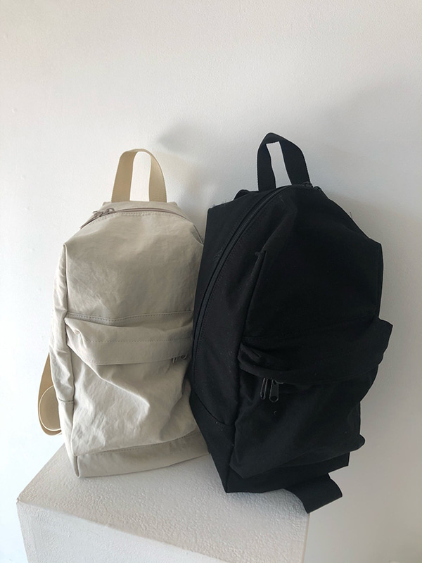 cotton bag (lightbeige/black)