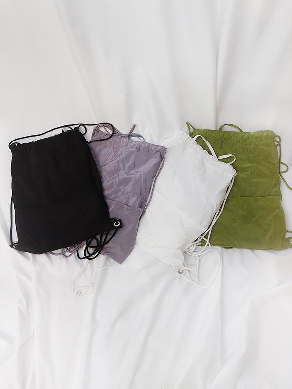 comme nylon bag (white/olive/lightpurple/black)