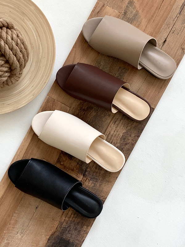 basic slipper (ivory/cocoa/brown/black)